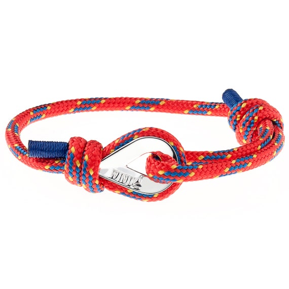 RED BRACELET - wrist bracelet, arm bracelet, mens bracelets, power bracelet, power rope bracelet, paracord bracelets, outdoors bracelet