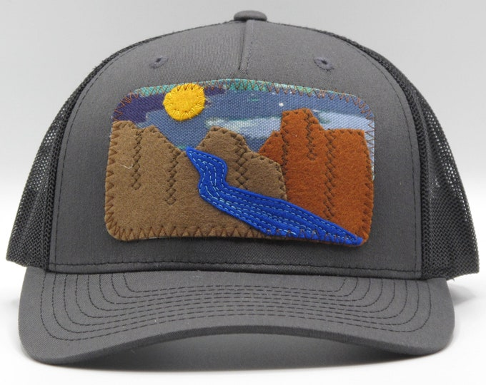 River Canyon Black Baseball Hat / Trucker Hat