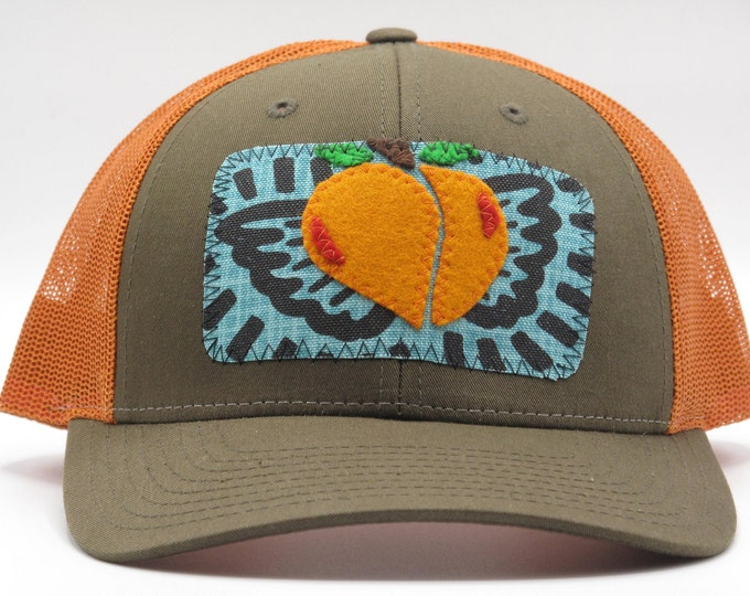 Life is Peachy Baseball Hat trucker Hat in orange