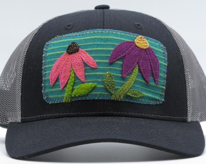 Black Coneflower Baseball Hat / Trucker Hat