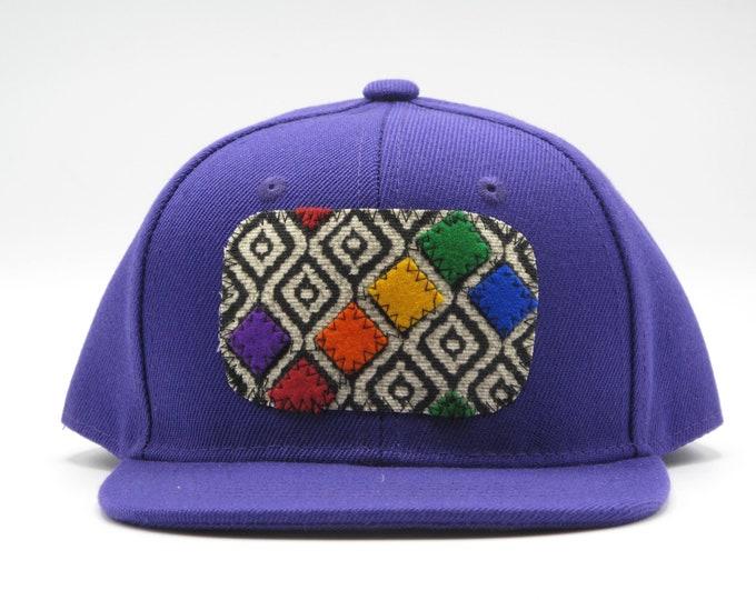 Rainbow Bits Purple Toddler Baseball Hat / Trucker Hat