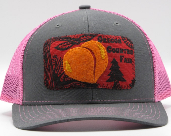 Oregon Country Fair Pink Baseball Hat / Trucker Hat