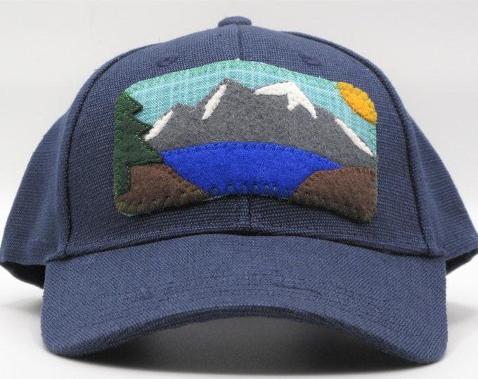 Mountain Lake Blue Hemp Baseball Hat
