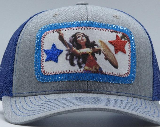 Wonder Woman Blue Baseball Hat / Trucker Hat