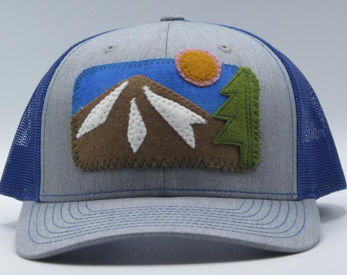 Rosy Sky Mountain Baseball Hat / Trucker Hat