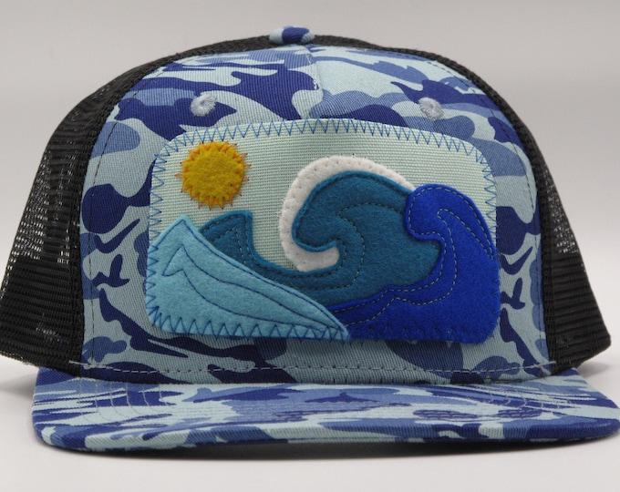 Big Blue Wave Trucker/Baseball Hat