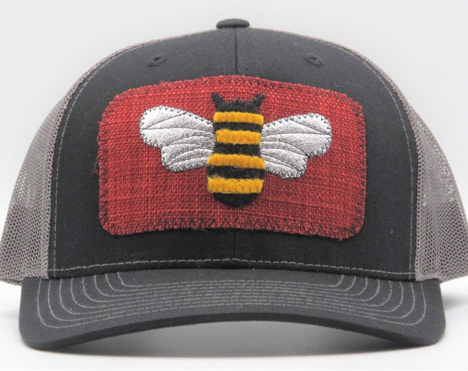Garden Bee Trucker Hat/Baseball Hat