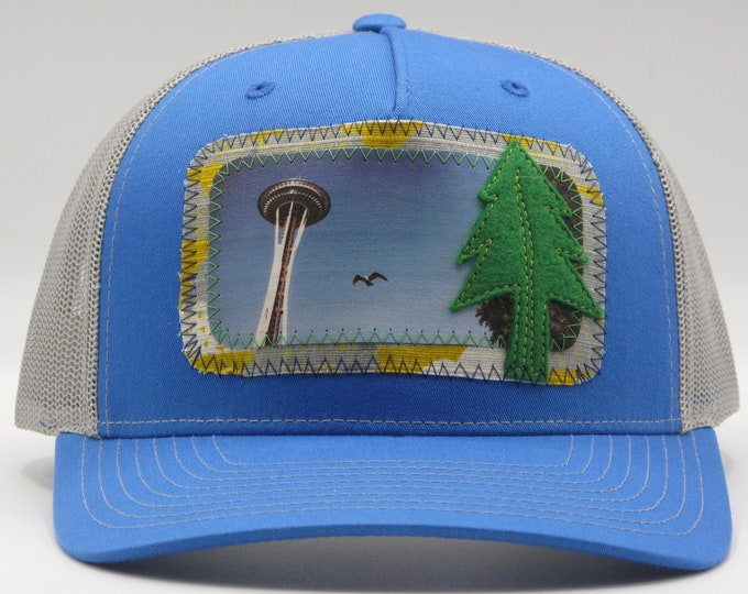 Seattle Space Needle Baseball Hat / Trucker Hat