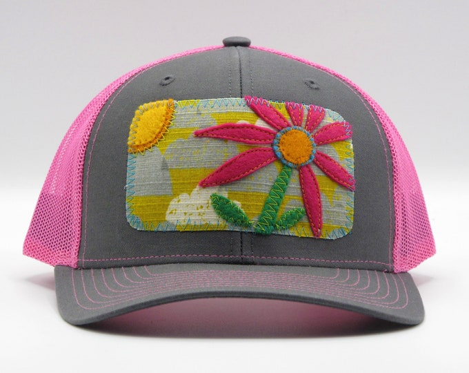 Big Pink Flower Baseball Hat / Trucker Hat