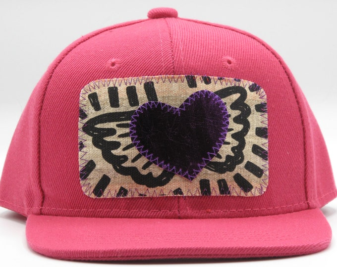 Purple Heart, Pink Toddler Trucker Hat