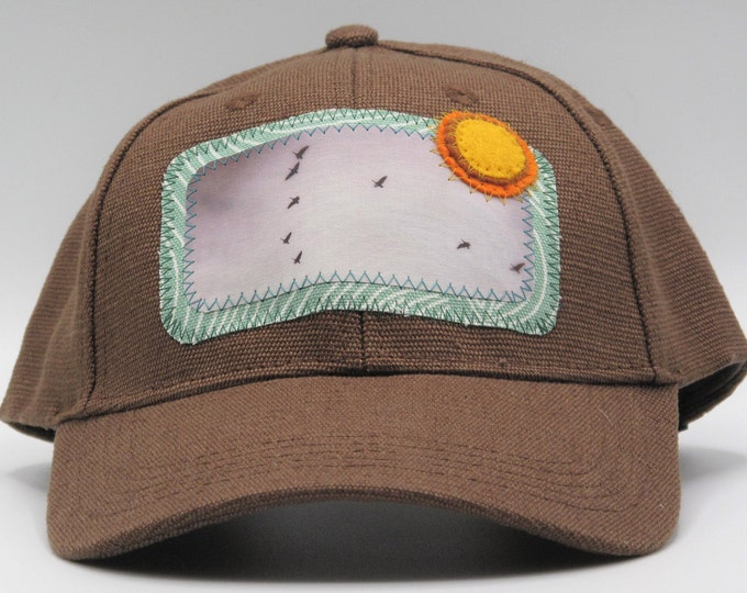 Flying Geese Brown Hemp Baseball Hat