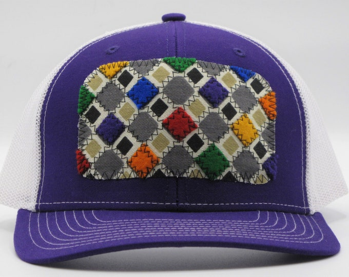 Rainbow Quilt Baseball Hat/Trucker Hat