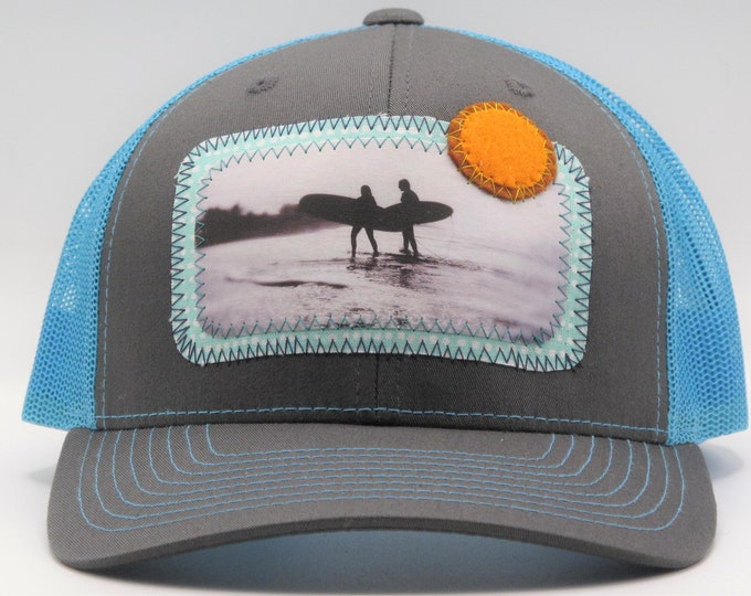 Surfs Up Blue Baseball Hat / Trucker Hat