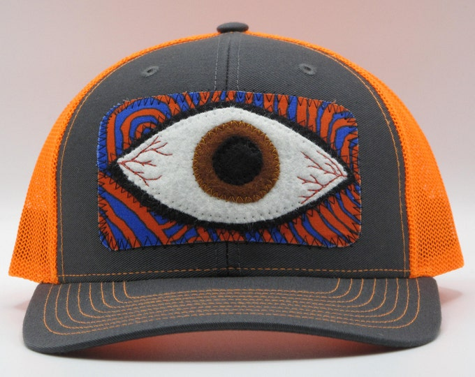 Eye of the World Orange Baseball Hat / Trucker Hat