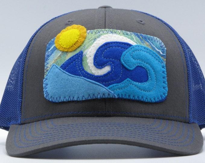 Big Wave Blue Baseball Hat / Trucker Hat