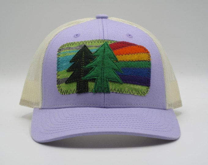 Forest Lover's lavender Trucker Hat/Baseball Cap