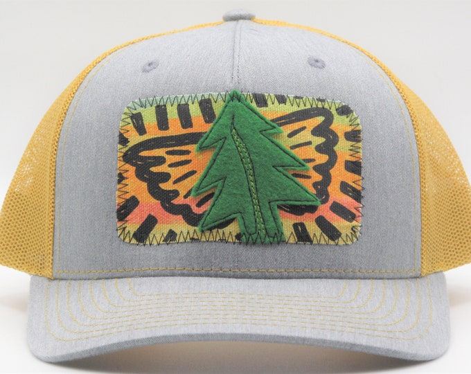Tree Angel Gold Baseball Hat / Trucker Hat - Save the Redwoods Donation