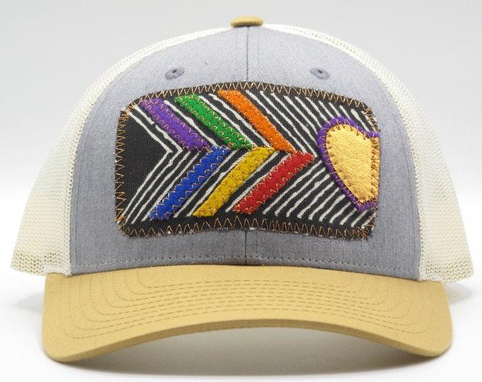 Cooper Heart Rainbow Baseball Hat / Trucker Hat