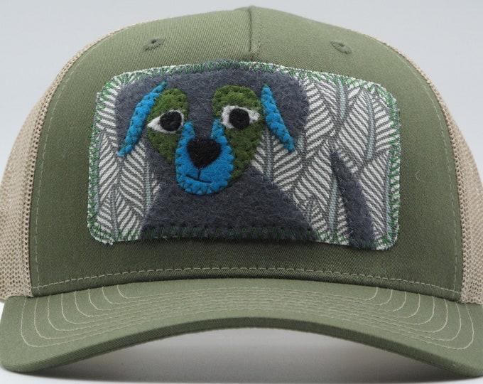Little Gray & Blue Puppy Baseball Hat/Trucker Hat