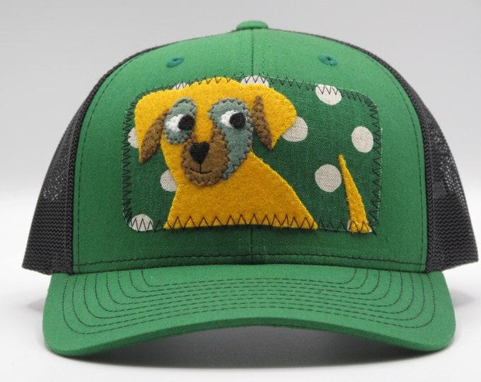 Yellow Puppy Baseball Hat/Trucker Hat