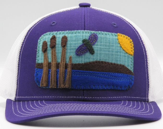 Wetlands Purple Baseball Hat / Trucker Hat