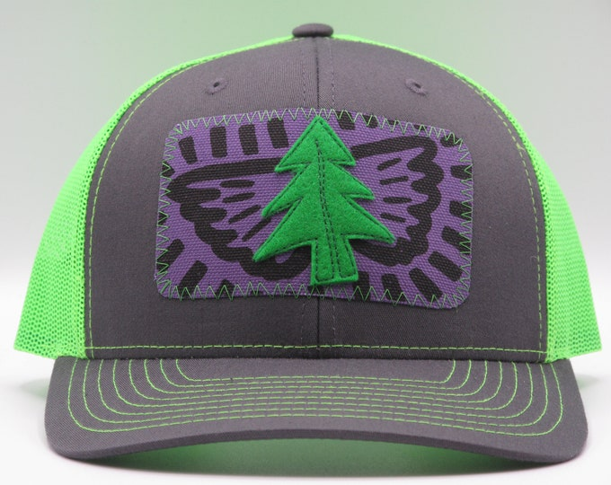 Tree Lover's Fluorescent Green Trucker Hat/Baseball Hat