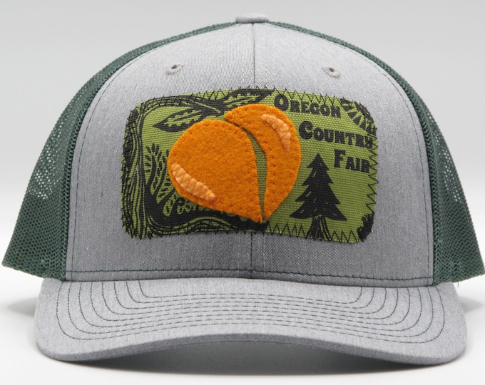 Oregon Country Fair  Green and Gray Baseball Hat / Trucker Hat