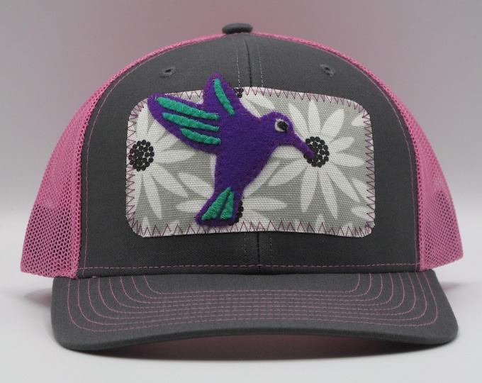 Hummingbird Baseball/Trucker Hat in Pink