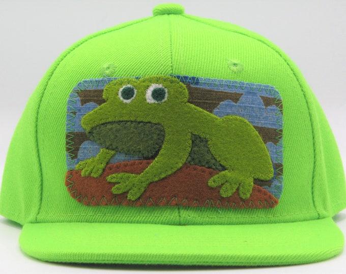 Little Green Frog Toddler Trucker Hat