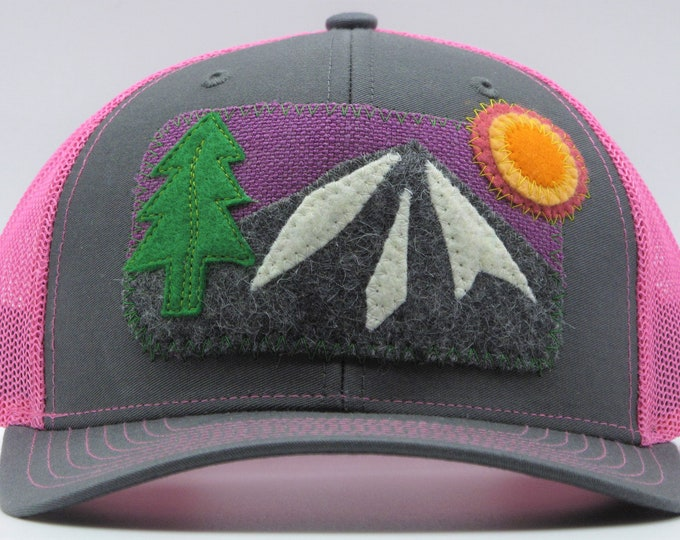 Purple Mountain, Pink Baseball / Trucker Hat