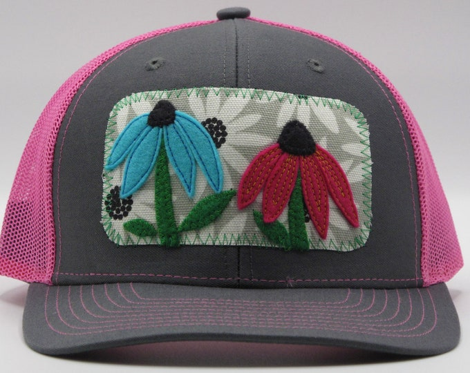 Flower Garden Pink Baseball Hat / Trucker Hat