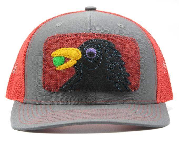Raven Red trucker Hat/ Baseball Hat