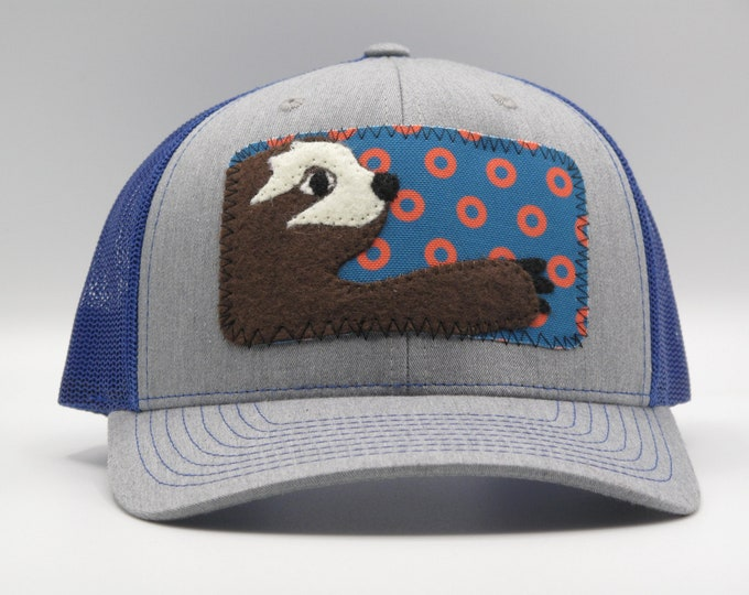 Blue Phish Sloth Baseball Hat/Trucker Hat