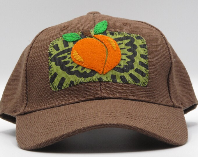 Flying Peach Brown Hemp Baseball Hat