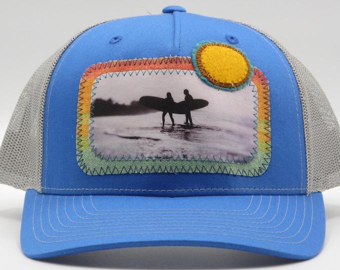 Surfer Sun Blue Baseball Hat / Trucker Hat