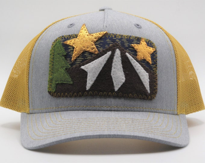 Night Sky Golden Baseball Hat / Trucker Hat
