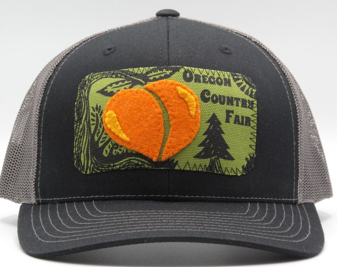 Oregon Country Fair Black Baseball Hat / Trucker Hat