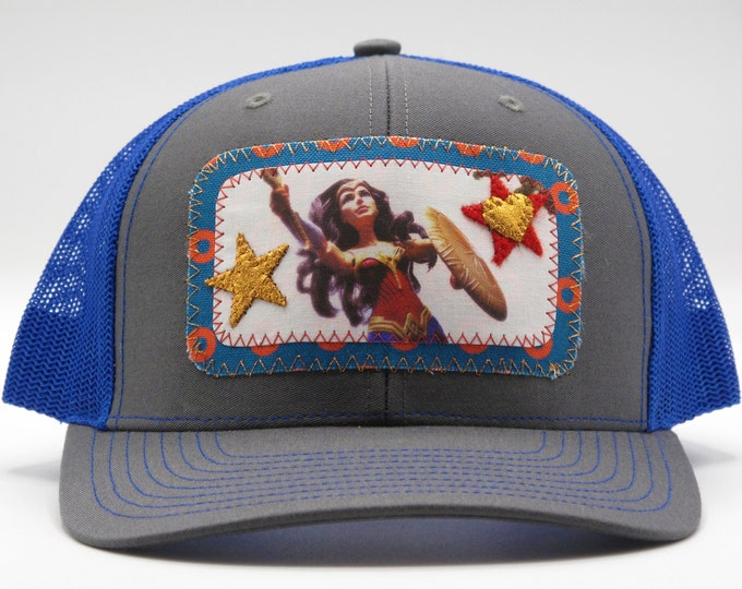 Wonder Woman Blue Baseball /Trucker Hat