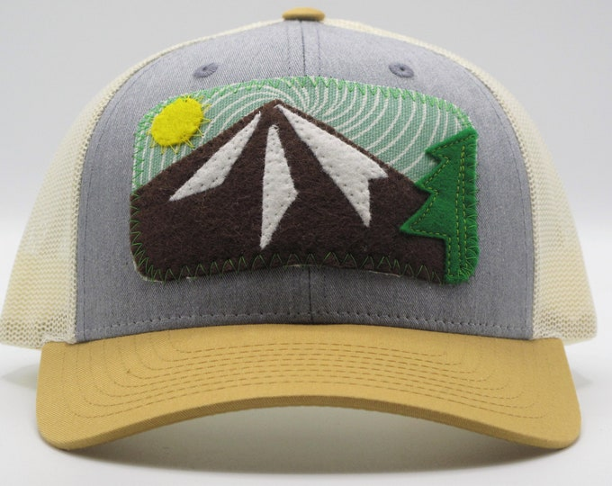 The Mountain Tricolor Baseball/Trucker Hat