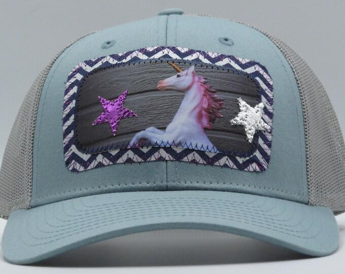 Dreamy Blue Unicorn Baseball Hat / Trucker Hat