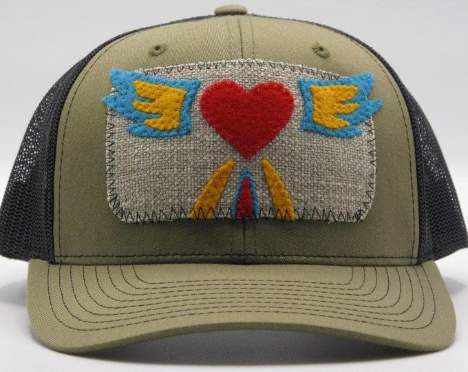 Flying Heart Baseball Hat / Trucker Hat
