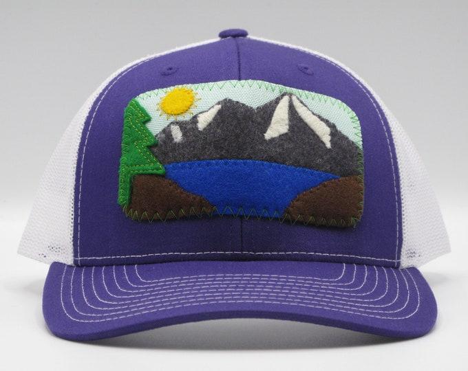 Mountain Lake Purple Baseball Hat/Trucker Hat