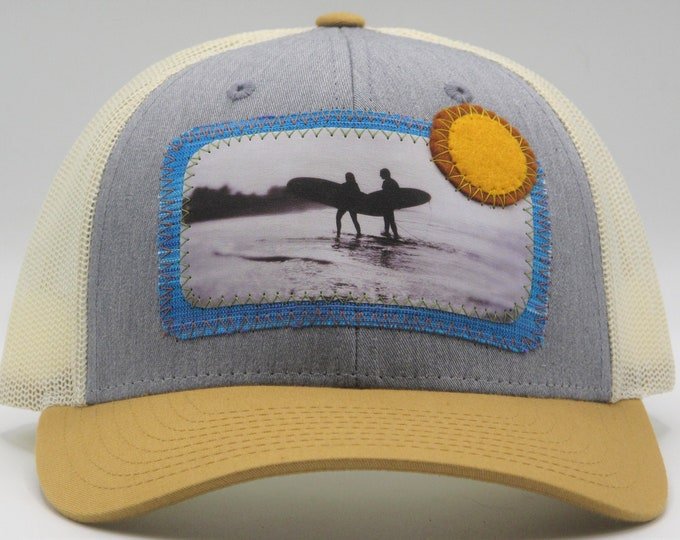 Surfs Up Light Blue Baseball Hat / Trucker Hat