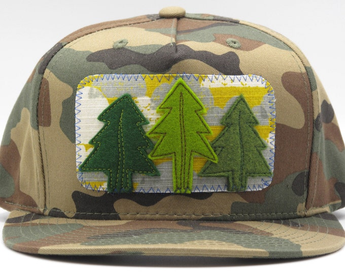 Three Tree Flat Bill Camo Trucker Hat