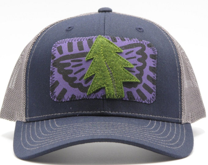 Tree Angel Navy Baseball Hat / Trucker Hat SAVE THE REDWOODS