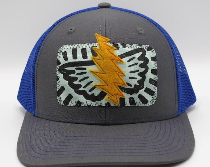 Grateful Lightning Blue Baseball/Trucker Hat