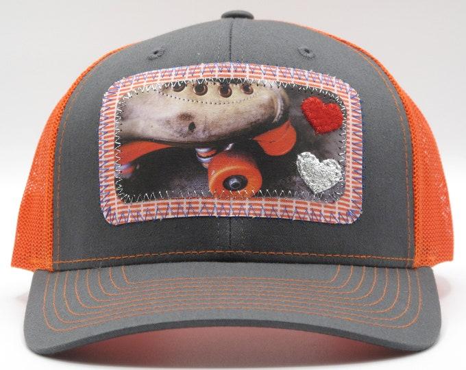 Roller Skate Roller Derby Baseball Hat / Trucker Hat