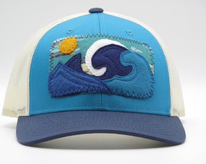 Big Wave Baseball/Trucker Hat Tri-Color