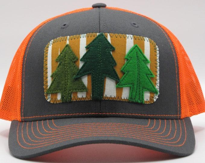 Bright Orange Trees Baseball Hat / Trucker Hat
