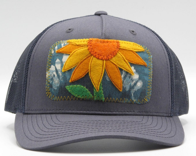 Giant Sunflower Baseball Hat / Trucker Hat
